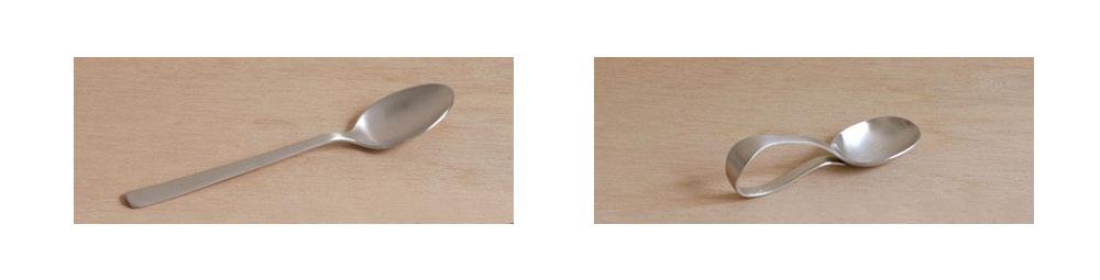 銀のスプーンの形状